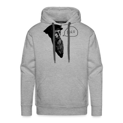 Calvin YOLO - Sweat-shirt à capuche Premium pour hommes