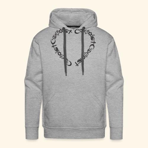 Coexit en coeur - Sweat-shirt à capuche Premium pour hommes