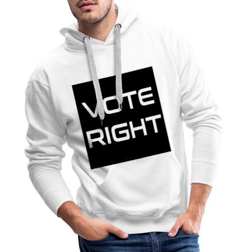 vote right - Männer Premium Hoodie