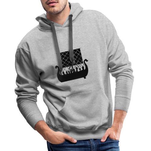 LongShip - Vikings - Sweat-shirt à capuche Premium pour hommes
