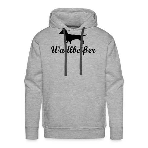 wadlbeisser_dackel - Männer Premium Hoodie