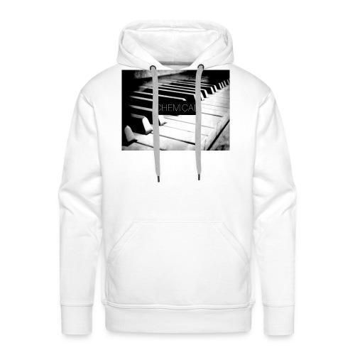 Piano black&White - Felpa con cappuccio premium da uomo