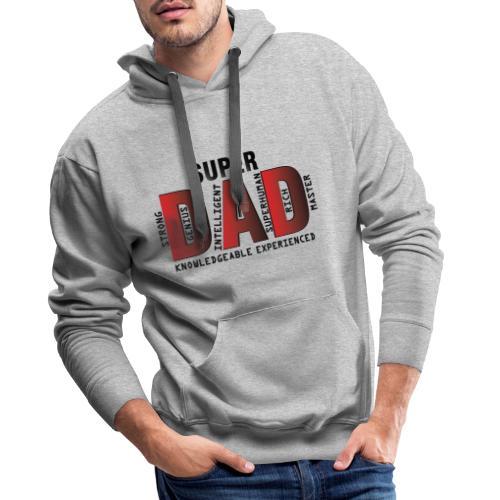 FATHER'S DAY - SUPER DAD DESIGN - Men's Premium Hoodie