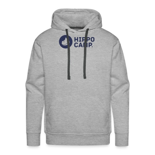 Logo horizontal bleu 4x - Sweat-shirt à capuche Premium pour hommes