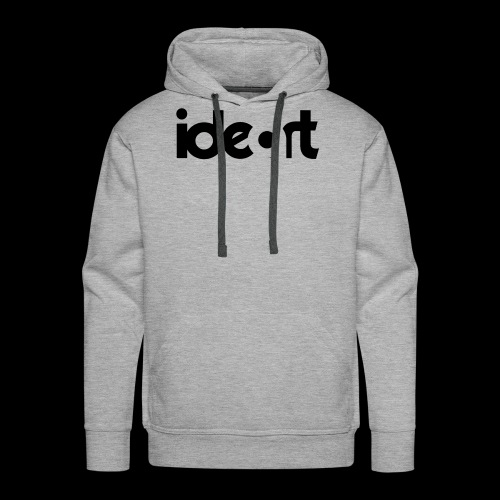 ideart logo sort - Herre Premium hættetrøje