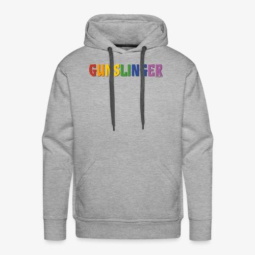 Gunslinger Pride (Rainbow) - Men's Premium Hoodie