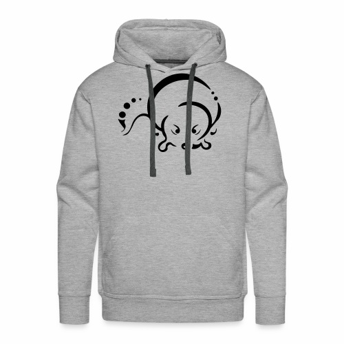 Otter, Tribal Design - Men's Premium Hoodie
