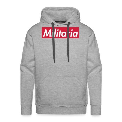 Militaria Rouge - Sweat-shirt à capuche Premium pour hommes