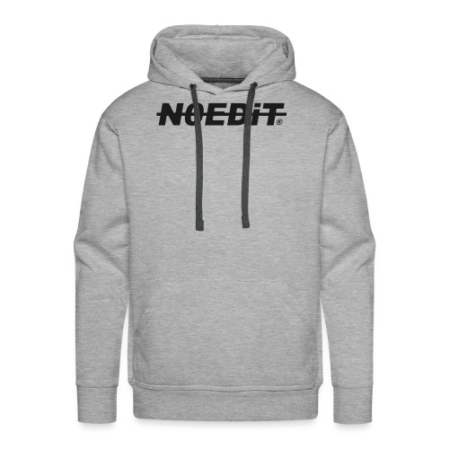 No Edit Black Logo - Men's Premium Hoodie