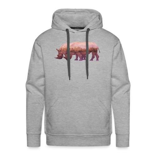 Nashorn Alpen - Männer Premium Hoodie