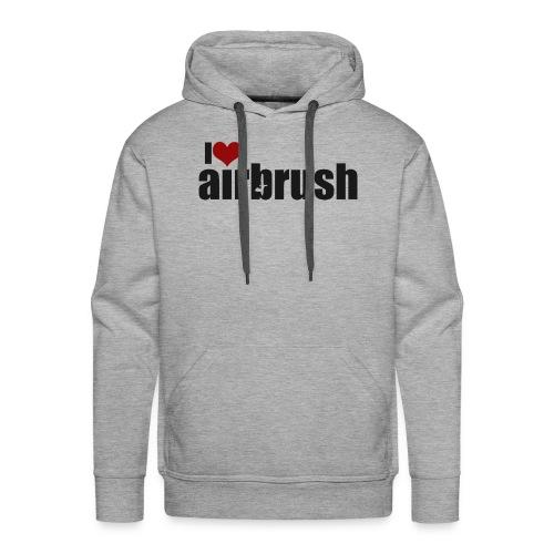 I Love airbrush - Männer Premium Hoodie