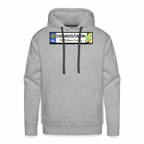 CARLOW, IRELAND: licence plate tag style decal - Men's Premium Hoodie
