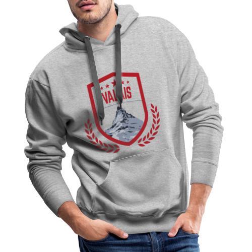 Walliser Logo mit dem Matterhorn - Männer Premium Hoodie