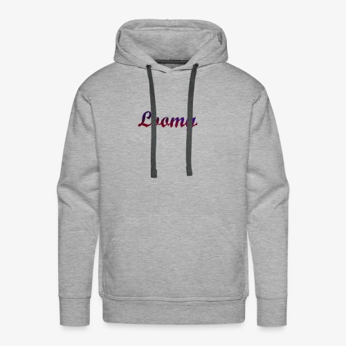 Loomy_Text_Red_And_Blue - Men's Premium Hoodie