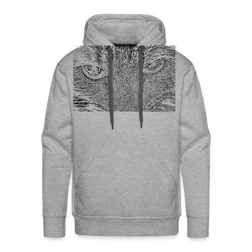 Kat kop (zwart) - Mannen Premium hoodie