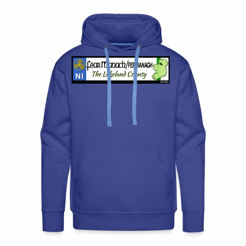 FERMANAGH, NORTHERN IRELAND licence plate tags eu - Men's Premium Hoodie