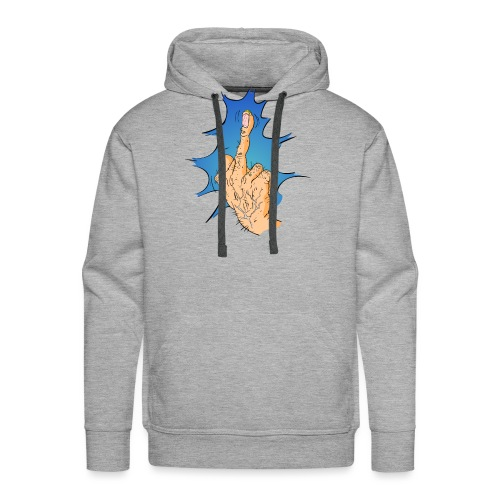 The Big Middle Finger - Mannen Premium hoodie