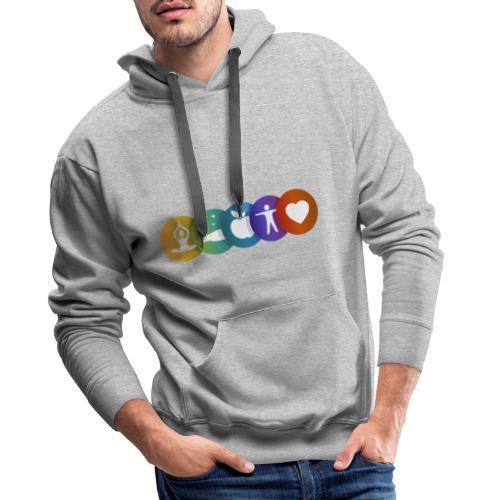 Salud & Bienestar - Sudadera con capucha premium para hombre