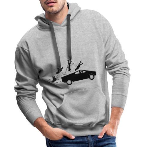 Evolution accident tesla Cybertruck par Elon Musk - Sweat-shirt à capuche Premium pour hommes