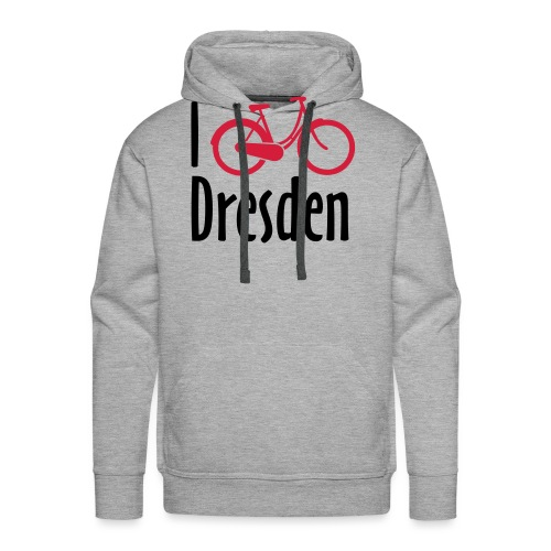 I Bike Dresden - Hollandrad - Männer Premium Hoodie