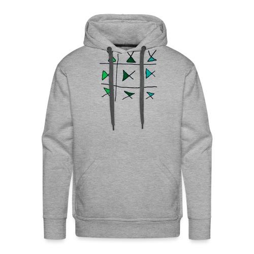 horizontaal verticaal - Mannen Premium hoodie