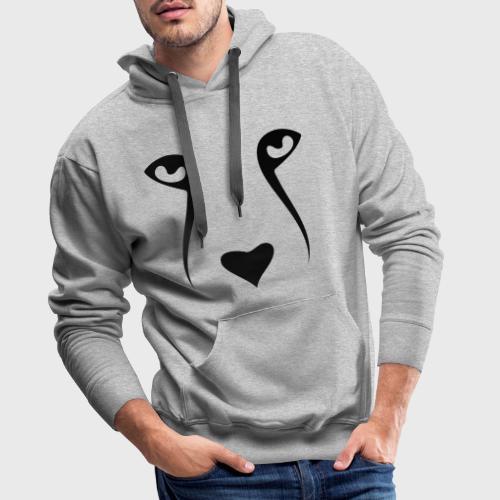 Tête de chien - Sweat-shirt à capuche Premium pour hommes