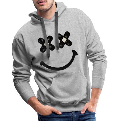 Pansement smile - Humour - Sweat-shirt à capuche Premium pour hommes