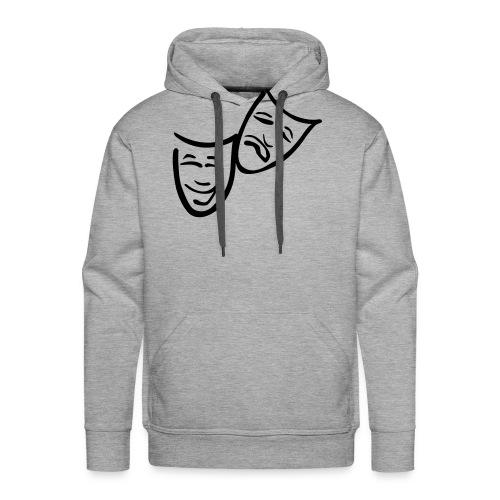 Theatermasken - Männer Premium Hoodie