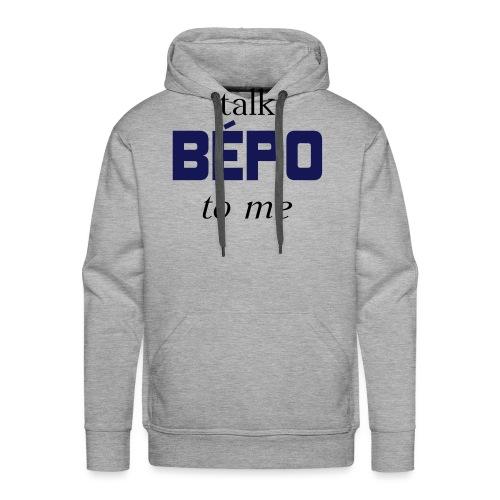 talk bépo new - Sweat-shirt à capuche Premium pour hommes