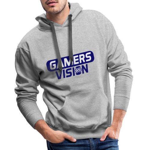 GamersVisiont logo blauw - Mannen Premium hoodie