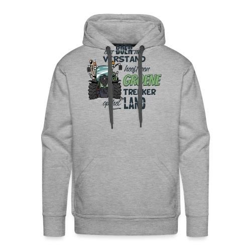 0195 Boer verstand F - Mannen Premium hoodie