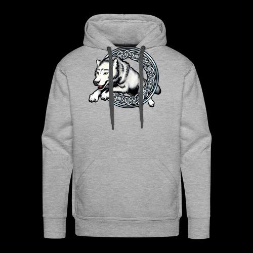Leaping Wolf - Men's Premium Hoodie