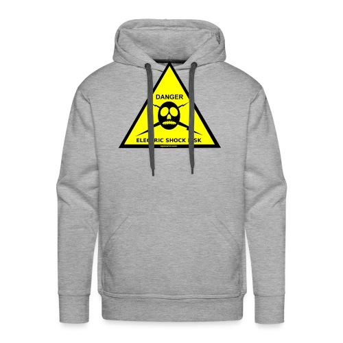 DANGER-ELECTRIC-SHOCK-RISK-SIGN - Men's Premium Hoodie