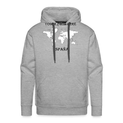 España-blanc - Sweat-shirt à capuche Premium pour hommes