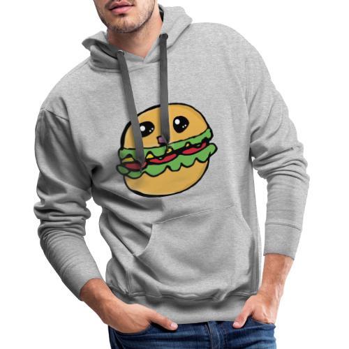 Hamburger kawai - Sweat-shirt à capuche Premium pour hommes