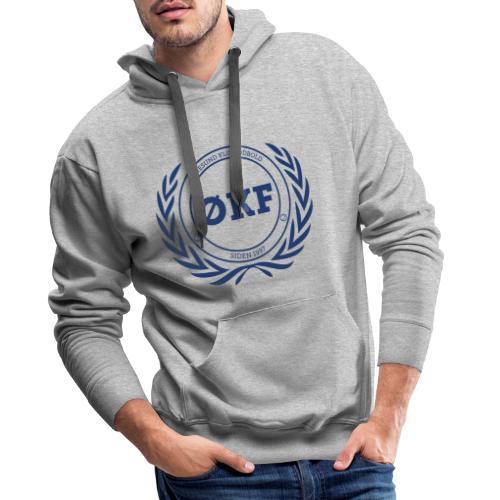 ØKF blå logo - Herre Premium hættetrøje