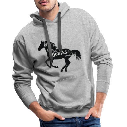 Life Is Better With Horses Around - Premiumluvtröja herr