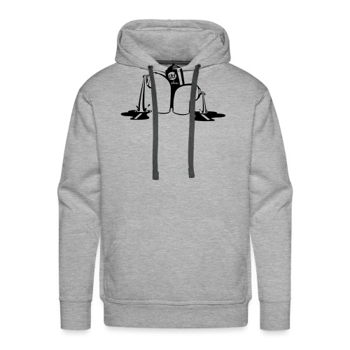 puking spray cans - Mannen Premium hoodie
