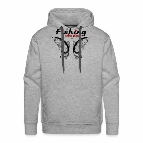 Fishing-trout-season - Sweat-shirt à capuche Premium pour hommes