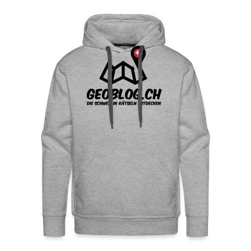 Logo+Schriftzug-hoch - Männer Premium Hoodie