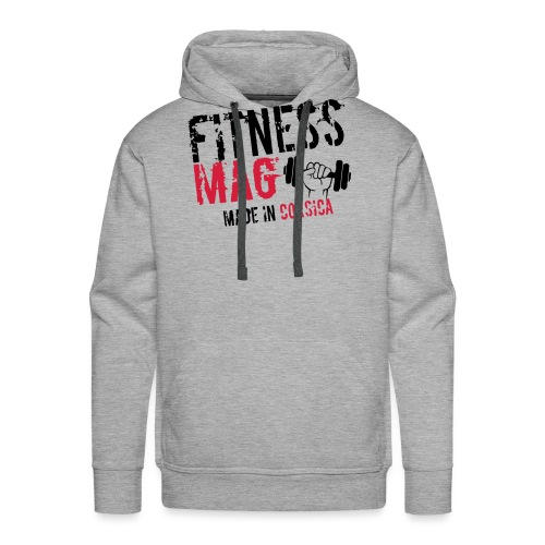Fitness Mag made in corsica 100% Polyester - Sweat-shirt à capuche Premium pour hommes