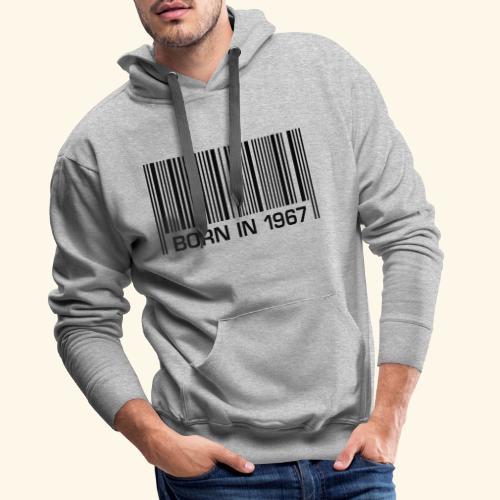born in 1967 50th birthday 50. Geburtstag barcode - Männer Premium Hoodie