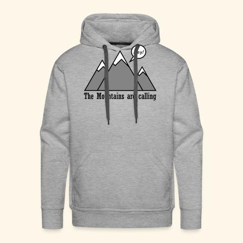 mountains calling - Männer Premium Hoodie