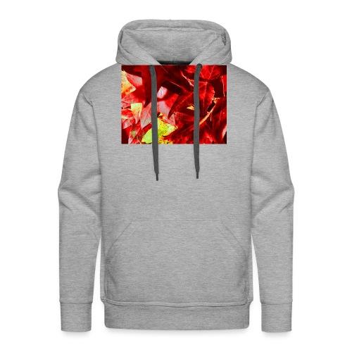 foglie d'autunno - Felpa con cappuccio premium da uomo