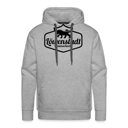 Löwenstadt Design 1 schwarz - Männer Premium Hoodie