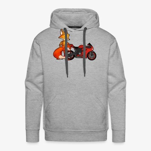 renard moto - Sweat-shirt à capuche Premium pour hommes