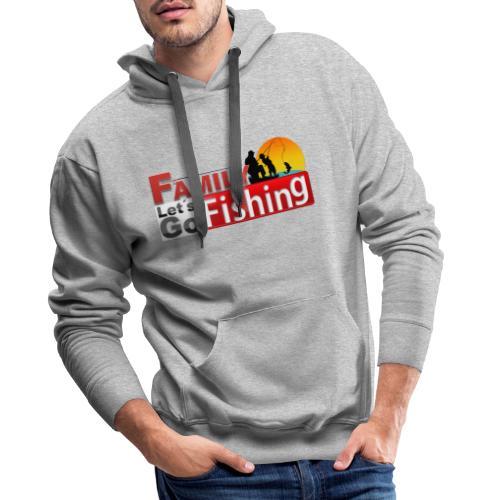 FAMILY LET´S GO FISHING FONDO - Sudadera con capucha premium para hombre