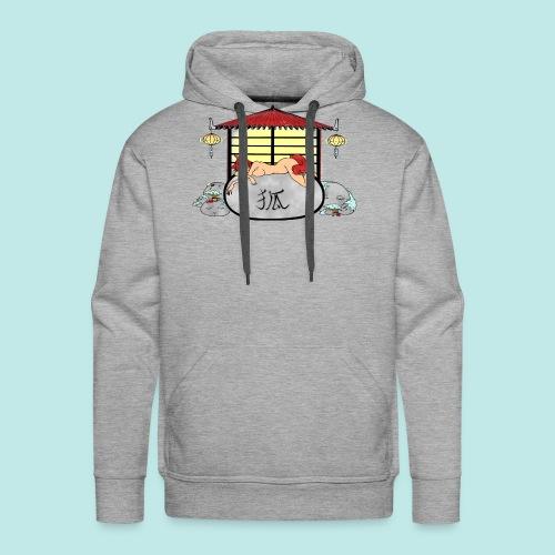 Déesse renard Inari jardin zen temple japonais - Sweat-shirt à capuche Premium pour hommes