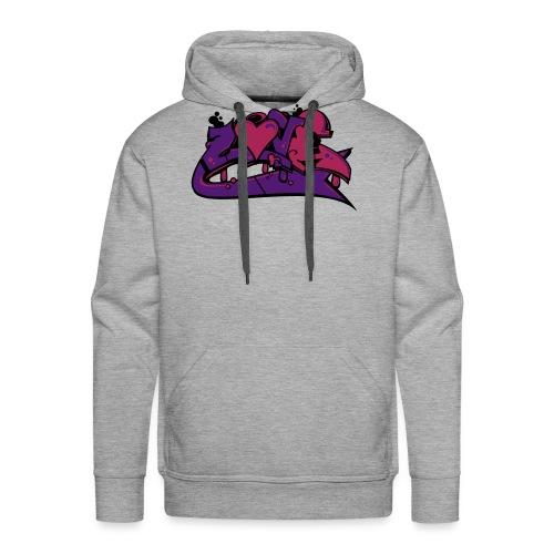 love graffiti - Sweat-shirt à capuche Premium pour hommes