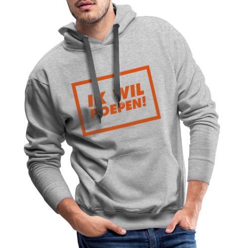 ik wil poepen! - Sweat-shirt à capuche Premium pour hommes